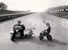Picture taken in Holland during the 1973 oil crisis