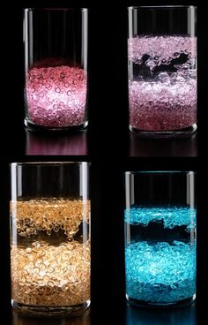 vase light underneath gems..choose color.