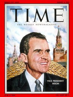 No Eames collection is complete without this, the August 3, 1959 issue of TIME magazine, with then Vice President Richard Nixon in Moscow, and behind him, the Buckminster Fuller geodesic dome in which the landmark Eames film, GLIMPSES OF THE USA was screened to tens of thousands of Russian citizens.