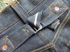 Jack Knife Outfitters bespoke jeans with cinch detail and pre-1933 style white selvedge line Japanese denim