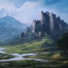 aec62505c9581ec03a001c25916072af--fantasy-landscape-fantasy-art.jpg (736×736)
