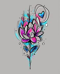 51 Ideas Drawing Tattoo Rose Sketch For 2019 Rose Tattoos, Flower Tattoos, Body Art Tattoos, New Tattoos, Color Tattoos, Tatoos, Rose Sketch, Flower Sketches, Drawing Flowers