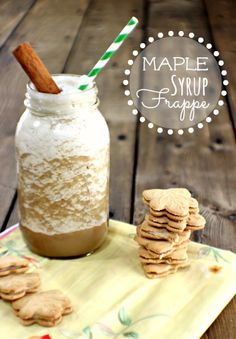 Rich and Yummy Maple Syrup Frappe!!  It will really mix up your morning and start it on a good note!