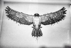 red tailed hawk geometric tattoo - Google Search