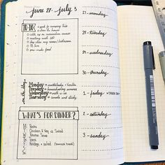 Take a look at this super simple weekly spread! Took me about 10 minutes to set up and I'm good to go for the week, trying it out to see if I can fit all my life on one page, thinking I may have to go back to two, but here's hoping... ;)   bullet journal   bullet journaling   bujo   bullet journal junkie   bullet journal junkies   bujo junkie   bujo junkies   planner   planner girl   planning  