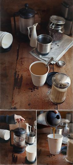 Perfect cup of coffee using a French press.and it is the best! I Love Coffee, Coffee Break, Best Coffee, Morning Coffee, Morning Mood, Coffee Girl, Morning Person, Sunday Morning, Coffee Cafe