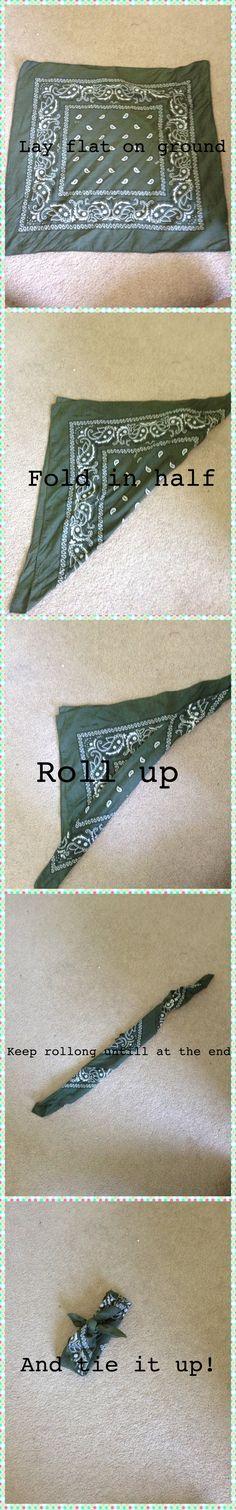 How to make a bandana headband
