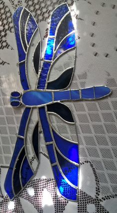 Stained glass dragonfly Tiffany vazka