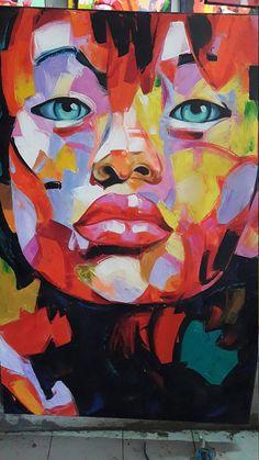 Fine Art Beauty Women urban art pop Huge Painting Bali Realism