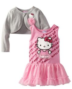 Hello Kitty Girls 2-6X Cardigan and Dress