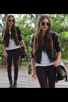 Cute rock chick look!