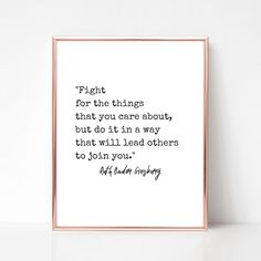 Ruth Bader Ginsburg 'Fight' Quote Digital Download