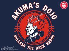 Demon Dojo T-Shirt - http://teecraze.com/daily-deal-9/ - Designed by pigboom #tshirt #art #fashion