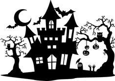 Casa Halloween, Halloween Vinyl, Halloween Clipart, Halloween Drawings, Halloween Haunted Houses, Holidays Halloween, Halloween Crafts, Halloween Stencils, Halloween Design