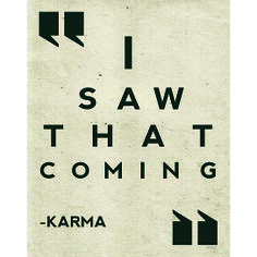 (99+) 'Karma' Wall Art Print from Fresh Words Market on OpenSky