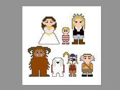 Labyrinth Pixel People Character Cross Stitch by CheekySharkLabs