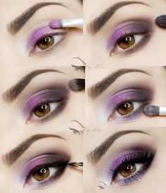 Touch of Violet - step by step