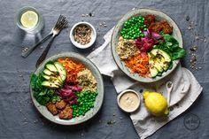 Clean Eating: Rezept für Good Life Bowl mit glasiertem Tempeh & Erdnussdressing