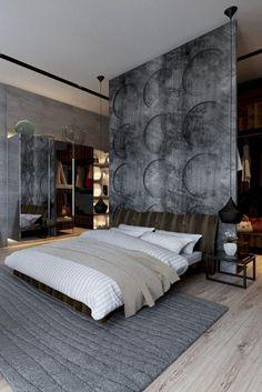 Make the master bedroom a masterpiece by adding an impressive room divider. // Raumteiler müssen nicht langweilig sein – mit dem richtigen Design werden diese sogar zum imposanten Kunstwerk im Schlafzimmer. #design #roomdivider #bedroom #moderninterior #enjoysiemens