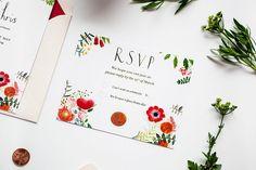 Garden Party Wedding Invitation RSVP