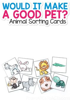 An alligator is pretty cool, but would it make a good pet? Teach your preschooler the difference between domesticated and wild animals with this printable animal sorting game! #FromABCsToACTs