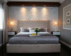 Great Stone Master Bedroom – modern – Bedroom – Toronto – Paul Lafrance Design The post Refreshing Master Bedroom Design Ideas for Renovation or Building appeared first on Interior Designs . Modern Bedroom Decor, Small Bedroom Designs, Master Bedroom Design, Bedroom Ideas, Modern Bedrooms, Small Bedrooms, Trendy Bedroom, Small Master Bedroom, Master Room