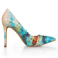 Bianca Georgescu Pantofi cu toc Viridian