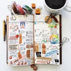   a look back • week 6   #liveauthentic #livefolk #nothingisordinary #coffeetime #coffee #zakka #midoritravelersnotebook #travelersnote #travelersnotebook #travelersfactory #midori #journal #planner #diary #plannerlove #stamps #plannernerd #stationerylove #stationery #washitape #stickers #papercraft #typography #handwriting #scrapbooking #vsco #vscocam Daily Journal, Journal Notebook, Journal Pages, Bullet Journal, Bujo, Sketch Journal, Album Book, Scrapbooking, Smash Book