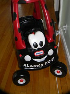 The pimped out ladybug cozy coupe