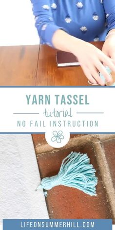 Easy step by step instructions on how to make a rug with tassels that is cheap. Diy Crafts For Home Decor, Yarn Crafts, Bead Crafts, Crafts To Make, Crafts For Kids, Easy Diy Room Decor, Fabric Crafts, Decoration St Valentin, How To Make Tassels