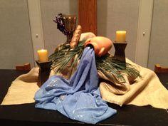Holy Thursday 2014 altar Church Altar Decorations, Alter Decor, Catholic Altar, Altar Design, Prayer Corner, Holy Thursday, Maundy Thursday, Church Stage, Church Flowers
