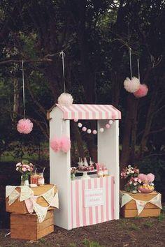 An Adorable Pink Lemonade themed birthday party via Kara's Party Ideas KarasPartyIdeas.com Printables, cake, invitation, desserts, supplies, etc! #lemonadestand #pinklemonadeparty (24)