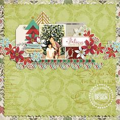 Snow Village and Noel Paper digital by Pink Paislee