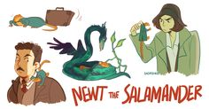 Newt Scamander's Curious Creatures — sadfishkid:  would you look at that. a whole bunch...
