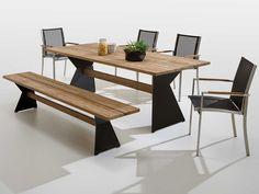 Gartenmobel Teak Edelstahl ~ Garden furniture gray wood garden furniture metal stool and