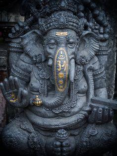 statue of ganesha in Kuta Bali, indonesia Arte Ganesha, Jai Ganesh, Ganesh Lord, Ganesh Statue, Shree Ganesh, Lord Shiva, Ganesha Tattoo Lotus, Lotus Tattoo, Tattoo Ink