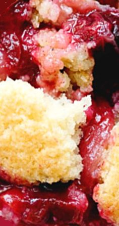 Mixed Fruit Cobbler with Brown Sugar Ice Cream