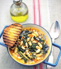 Zuppa rustica di fagioli cannellini, bieta e cavolo nero - Tutte le ricette dalla A alla Z - Cucina Naturale - Ricette, Menu, Diete