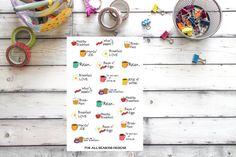 Breakfast Planner Stickers Breakfast Meal by ForAllSeasonsDesigns