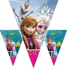 Disney Frozen flag banner. Length 2m (6.56 feet). www.KidsPartyTime.co.uk