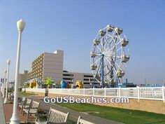 Virginia Beach Boardwalk Carnival Ferris Wheel. Seemed like an expensive spot of Ocean Front Real Estate to put a Carnival! Great view of the Boardwalk and the Ocean Beach from the top of the Ferris Wheel, however!  -- More Virginia Beach Area Attractions and Boardwalk pictures at -- http://www.memorable-beach-vacations.com/virginia-vacation-beach-screensavers-2.html