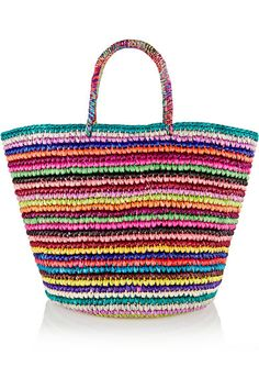 Shop for Studio Woven toquilla straw tote by Sensi at ShopStyle. Now for Sold Out. Studio Weave, Ethnic Bag, Straw Tote, Unique Bags, Crochet Handbags, Summer Bags, Spring Summer, Knitted Bags, Handmade Bags
