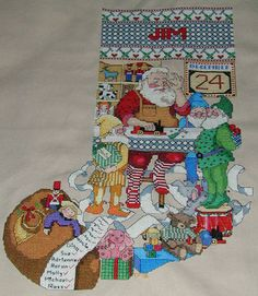 364 best cross stitch christmas stockings images on in