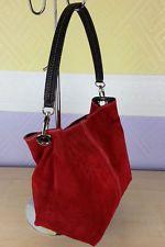 9ba68af23c Ladies Real Italian Suede Leather Small Mini Shoulder Handbag Tote Bag