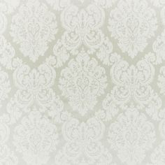 Sourced from India. Albertine Damask Pearl Ralph Lauren Upholstery Fabric.