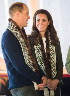 As they near the end of their tour of Canada, the Duke and Duchess of Cambridge were a picture of happiness, laughing and joking as they took in the incredible sights ofHaida Gwaii