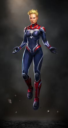 Captain Marvel by Erik Diziron on ArtStation