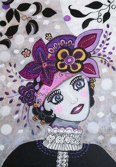 Purple Grey, Pink Black, Ladybug Rocks, Original Paintings, Original Art, Moon Painting, Expressionism, Surrealism, Buy Art