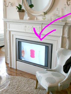 If you don't have the room for a full-blown entertainment center, home blog Apartment Therapy shows us an interesting place to keep you TV out of the way: inside a rarely-used fireplace.
