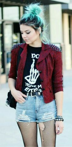I LOVE her hair and her jacket.